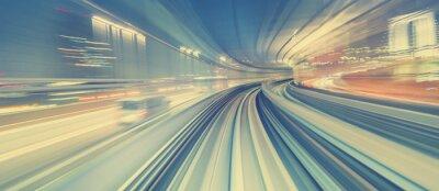 Фотообои Высокая скорость Концепция технологии через монорельс Токио