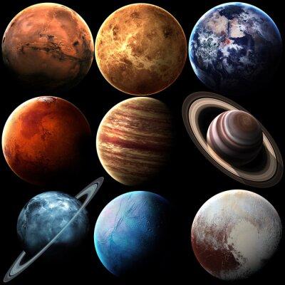 Фотообои Высокое качество, изолированных планет Солнечной системы. Элементы этой фотографии, предоставленной НАСА