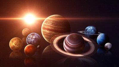 Фотообои Высокое качество, изолированных планет Солнечной системы. Элементы этого изображения, предоставленную NASA
