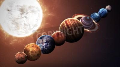Фотообои качество Hight планет Солнечной системы. Элементы этого изображения, предоставленную NASA