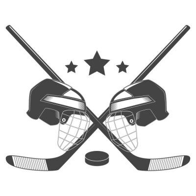Фотообои Хоккейный конкурс chempionship векторный логотип