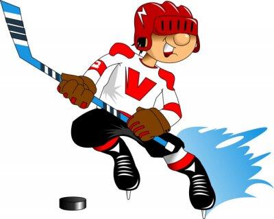 Фотообои хоккеист в белом