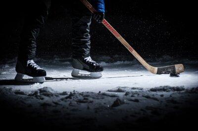 Фотообои Хоккеист. Ноги только просмотр