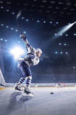 Фотообои Хоккеисты бросает шайбу и атаки