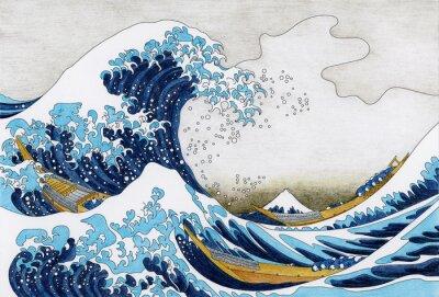 Фотообои Hokusai The Great Wave of Kanagawa для взрослых