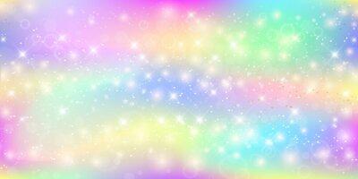 Фотообои Голографический волшебный фон с волшебными блестками, звездами и размытиями.