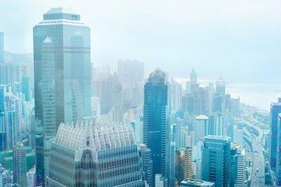Фотообои Бизнес-центр Гонконг
