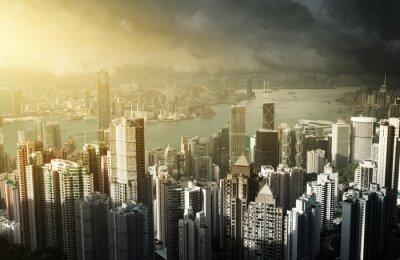 Фотообои Гонконг остров с пика Виктории