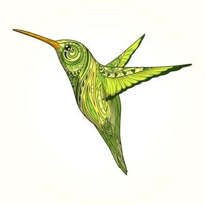 Фотообои Hummingbird с абстрактным орнаментом вектор
