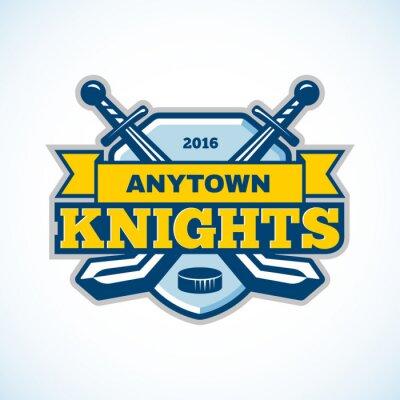 Фотообои Хоккейный рыцари логотип команды.
