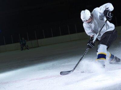 Фотообои хоккеист в действии