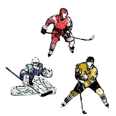 Фотообои Хоккеисты векторные иллюстрации