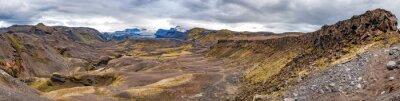 Фотообои Исландия Landmannalaugar поход дикий пейзаж