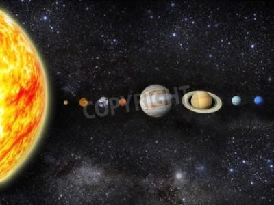 Фотообои Иллюстрация нашей солнечной системы - 3D визуализации карт от HTTP planetpixelemporium ком