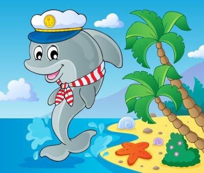 Фотообои Изображение с дельфина тему 3