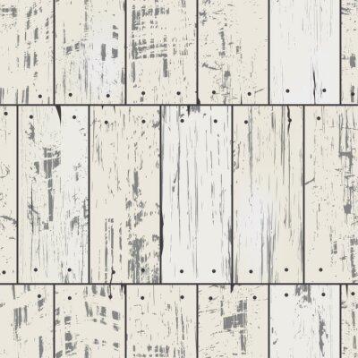 Фотообои Имитация деревянные доски с гвоздями. Вектор бесшовные шаблон ретро