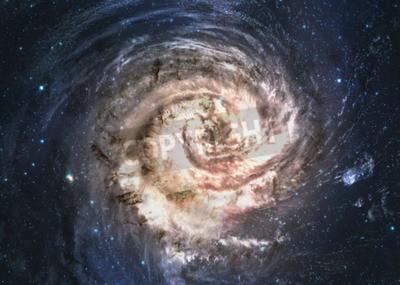 Фотообои Невероятно красивая спиральная галактика где-то в глубоком космосе.