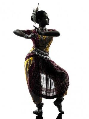 Фотообои Индийская женщина танцовщица танцы силуэт