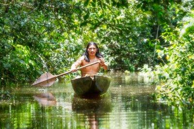Фотообои Коренные Деревянные Canoe