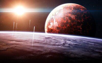 Фотообои Бесконечное пространство фона с туманностей и звезд. Это элементы изображения, предоставляемые НАСА