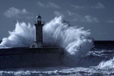Фотообои Инфракрасный грозовое маяк