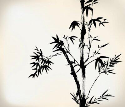 Фотообои чернила окрашены бамбука