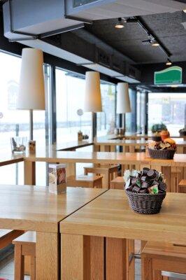 Фотообои Интерьер модном кафе