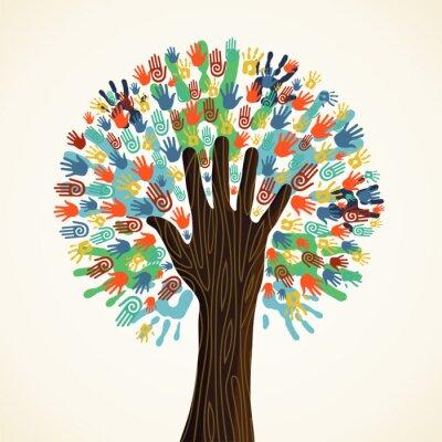 Фотообои Изолированные руки разнообразие деревьев