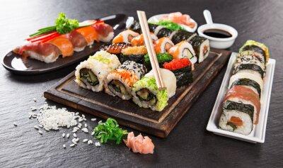 Фотообои Японский набор суши морепродукты