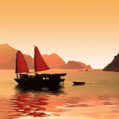 Фотообои Jonque данс La Baie d'Халонг - Вьетнам