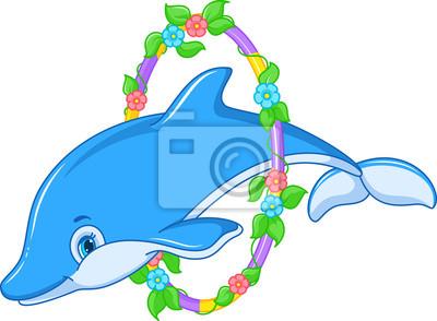 Фотообои Прыжки дельфинов