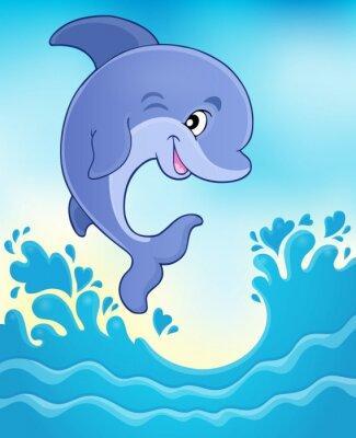 Фотообои Прыжки дельфинов тема изображение 6