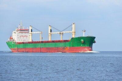 Фотообои Большой грузовой корабль (Балкер) плавание в яркий солнечный день. р