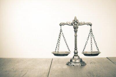 Фотообои Закон весы на стол. Символ справедливости. Сепия фото