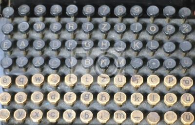 Фотообои буквы на старой пишущей машинке