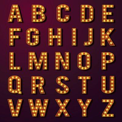 Фотообои Лампочка алфавитов Set