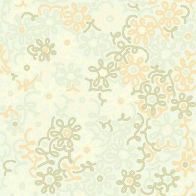 Фотообои Свет цветочные ромашки ретро старинные бесшовные модели. шаблон