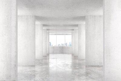 Фотообои Лофт стиль туннеля со многими стенами в светлом пустом здании с б