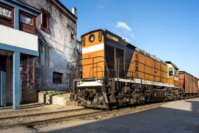 Фотообои Локомотиву им Bahnhof фон Камагуэй Kuba