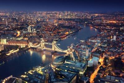 Фотообои Лондон в ночь с городских архитектур и Тауэрского моста