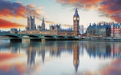 Фотообои London - Big ben and houses of parliament, UK
