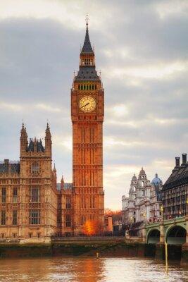 Фотообои Лондон с Clock Tower и палат парламента