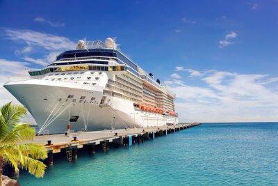 Фотообои Роскошный круиз судно в порту