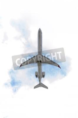 Фотообои Мадрид, Испания - 14 июня 2015: Самолеты Канадэйр CRJ-900 -Bombardier, из -Air Nostrum- авиакомпании, взлет из Мадридский аэропорт Барахас -Adolfo Suarez-, на 14 июня 2015th