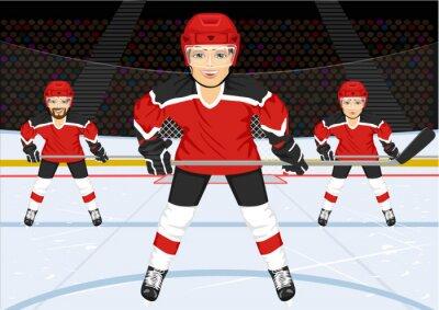 Фотообои мужской хоккей на льду команда