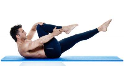 Фотообои человек фитнес пилатеса Упражнений изолированные