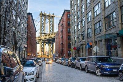 Фотообои Манхэттенский мост из Бруклина на зимний полдень
