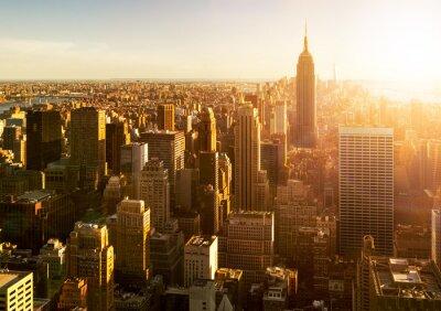 Фотообои Манхэттена горизонты бай Закат в Нью-Йорке