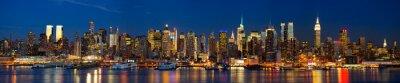Фотообои Манхэттена горизонты Панорама в ночное время, Нью-Йорк