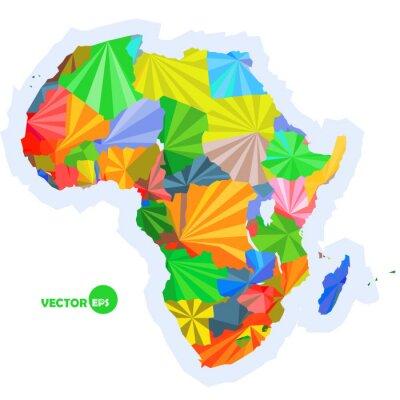Фотообои карта Африки. Концепция карты со странами Африки Красочные карта, абстрактного фона дизайн инфографики, Карта Африки в многоугольной оригами векторной иллюстрации дизайн логотипа